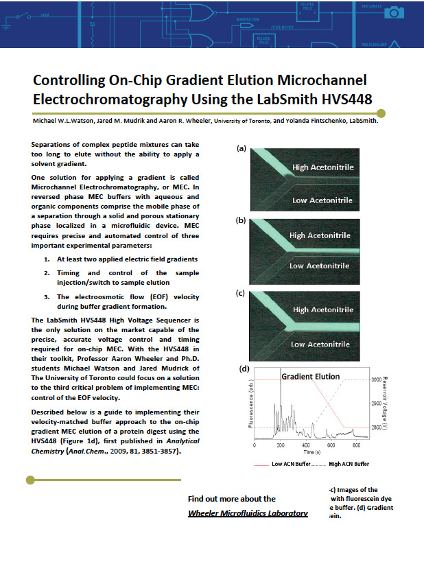 LabSmith On-Chip Gradient Elution Application Article